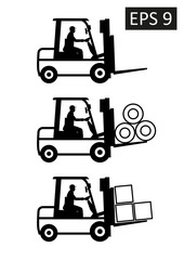 Vector delivery of cargo concept illustration.