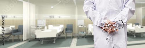 Naklejka doctor in hospital ward