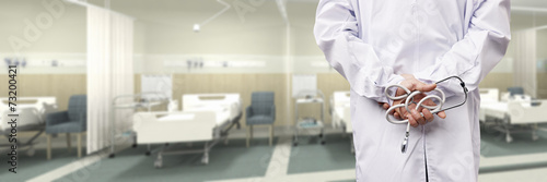 Poster doctor in hospital ward