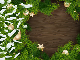 Christmas fir tree background. EPS 10