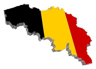 Belgium 3D Map Vector Very Detailed