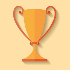 Winner cup, flat design