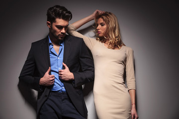 Fashion couple posing