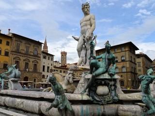 Fontaine de Neptune à Florence - Italie