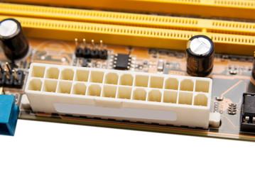 Electronic collection - power connector on computer mainboard