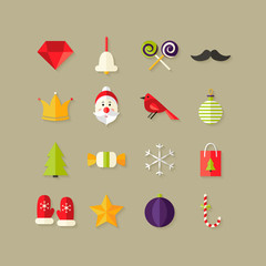 Christmas Flat Icons Set 1