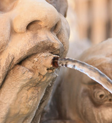 Detail of fountain in Rome