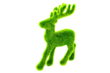 A Green Reindeer for Decoration