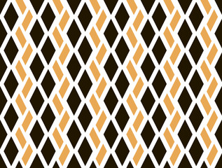 Abstract seamless geometric pattern of colored lozenges