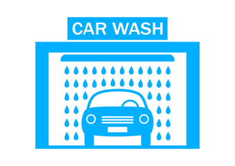 Car wash icon on white background