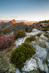 Linville gorge sunrise from the Chimneys
