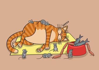 Lazy cat.