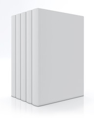 blank books mock up, isolated on white background