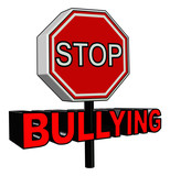 Stop Bullying sign in 3D poster