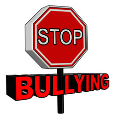 Stop Bullying sign in 3D