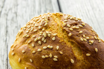 Home made bread with sesame