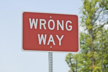 Wrong Way Sign Horizontal
