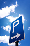 Fototapety parking sign (6)