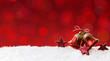 canvas print picture - Rote Glocken Weihnachtendeko