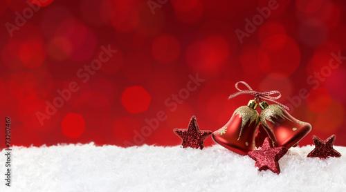 canvas print picture Rote Glocken Weihnachtendeko