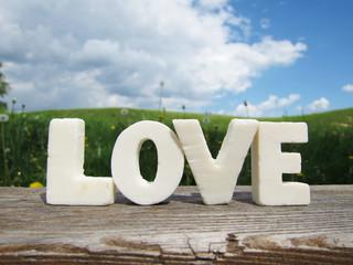 Wort Love in Buchstaben 10