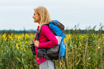 Woman hiking in nature
