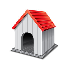 Dog house isolated on white vector