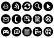 Modern communication icon set