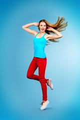 jumping teen