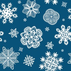 Wrapper with paper snowflakes