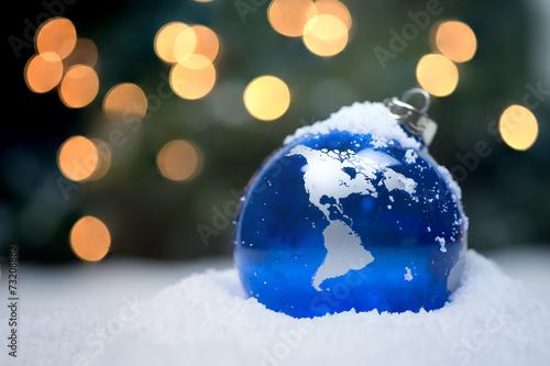 Leinwanddruck Bild Christmas Ornament