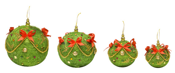 Christmas Balls Decoration Hanging Toy, White Background