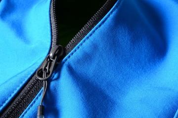 Cremallera en Chaqueta Azul