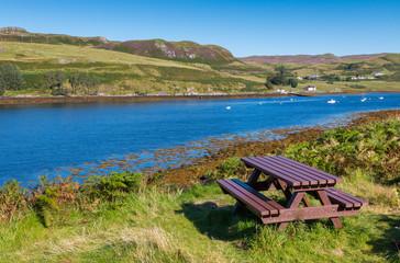 Picnic area at Loch Harport
