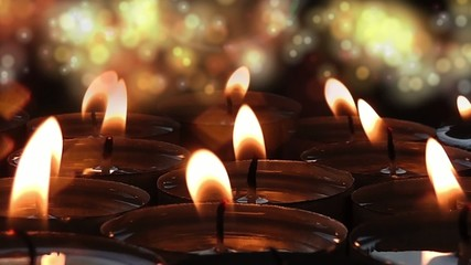 Candles on Bokeh Background