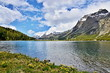 canvas print picture - Swiss Alps-lake Silvaplana