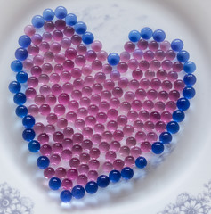 gelatin balls heart shaped