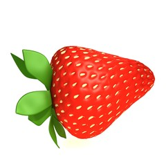 Strawberry 3d illustration