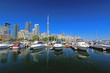Toronto waterfront in the summer
