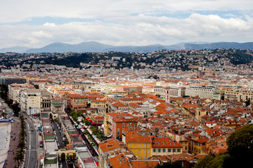 Nice city roofs, France.