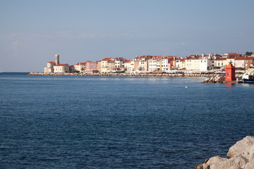 Piran beautiful town in Slovenia