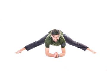 Man yoga Prasarita Padottanasana pose