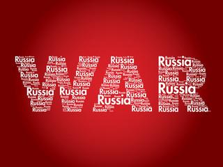 Russia War Terrorism concept word cloud vector background