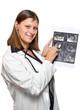 dottoressa con ecografia