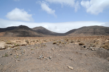 Le barranco de Munguía dans le massif de Jandía à Fuerteventu