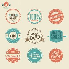 Premium Quality Guarantee Vector Label set