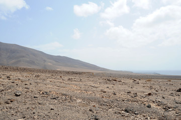 La côte sud de la presqu'île de Jandía à Fuerteventura