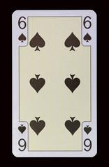 Spielkarten der Ladys - Pik Sechs