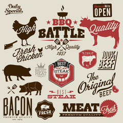 BBQ badges and labels