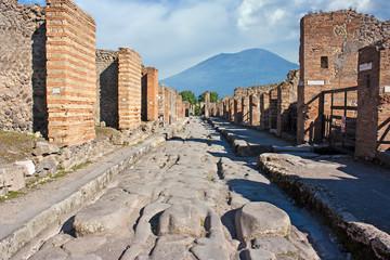 Pompeii with Vesuvio